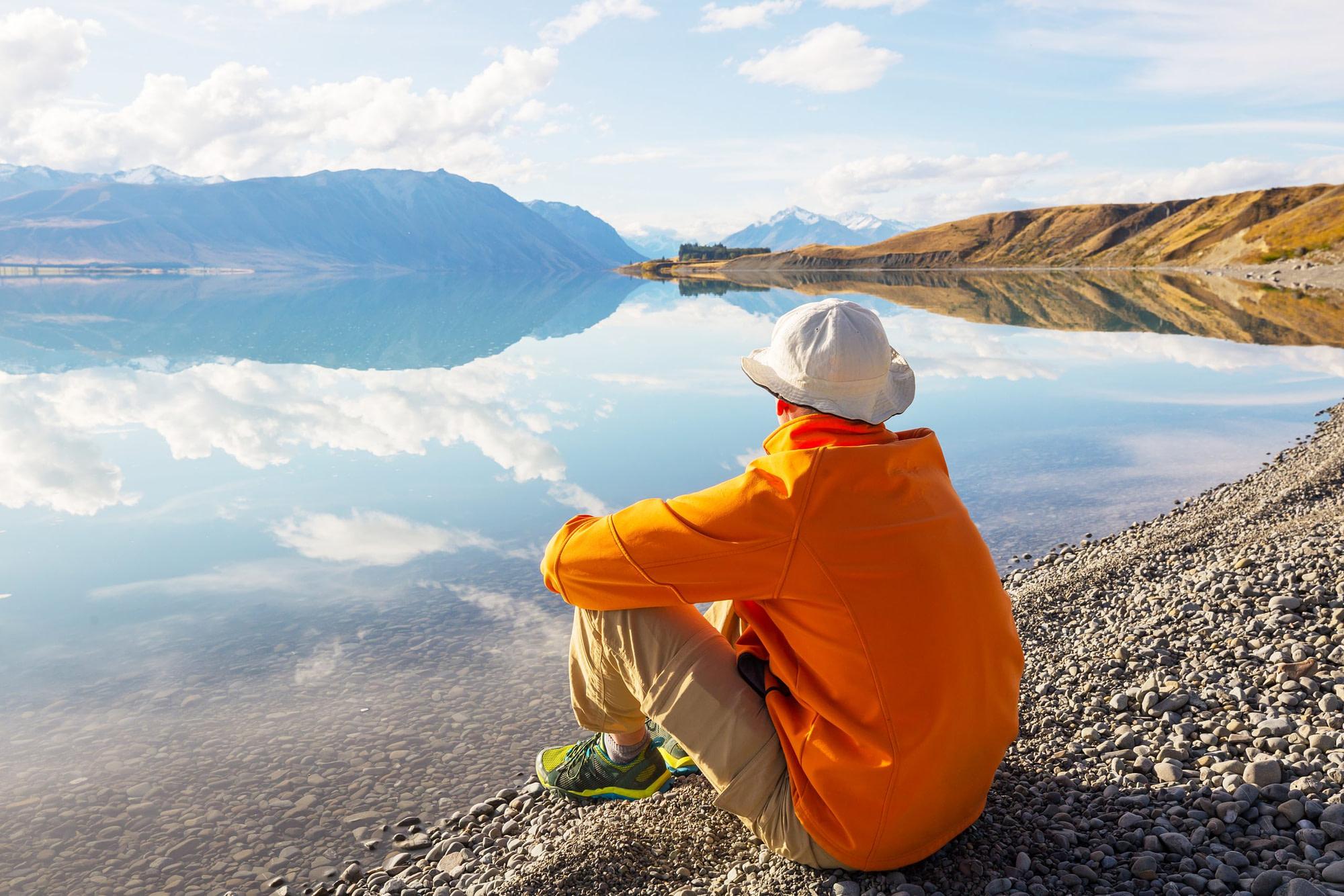 Relaxing At A Lake